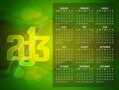 Beautiful calendar design for 2013 — Stock Vector