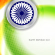 Beautiful background design for Indian republic day. - Imagen vectorial