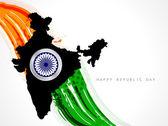 Creative modern Indian flag vector design art. — Stock Vector