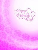 Vacker rosa färg bakgrundsdesign för alla hjärtans dag. — Stockvektor