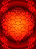 Carte de voeux couleur rouge fantastique pour la Saint-Valentin. — Vecteur