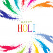 Colorful background design for Indian festival Holi - Stock Vector