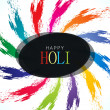 Colorful background design for Indian festival Holi - Stockvectorbeeld