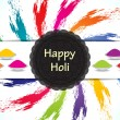 Colorful celebration card design for Holi festival - Stock Vector