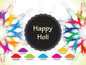Colorful celebration card design for Holi festival — Stock Vector