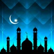 Abstract beautiful eid background with mosque. — Stock Vector