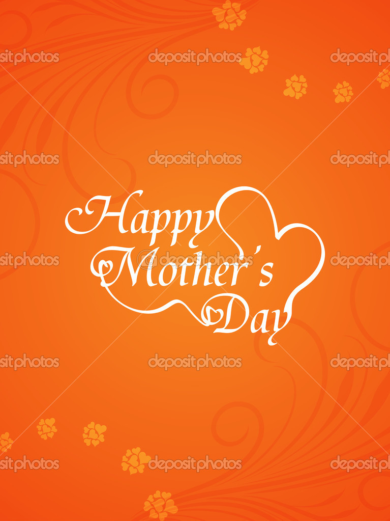 Artistic elegant mothers day card design stock vector for Classy mothers day cards
