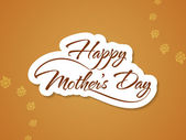 Beautiful background design for mother's day. — Stock Vector