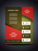 Presentation of creative corporate flyer or cover design. — Stock Vector