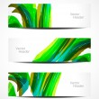 Stock Vector: Set of abstract beautiful web header or banner designs.
