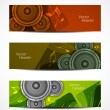 Set of beautiful music header designs. — Vettoriale Stock