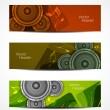 ensemble de designs de tête de belle musique — Vecteur