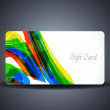 Abstract beautiful gift card design. — Stock Vector
