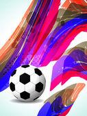 Kreative fußball hintergrund mit bunten modernes design. — Stockvektor