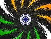 Diseño del tema bandera india hermosa. — Vector de stock