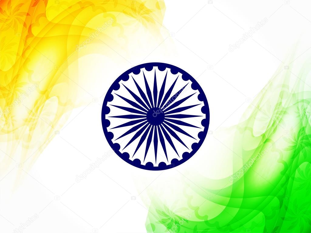 Indian Flag Theme: Beautiful Indian Flag Theme Design.