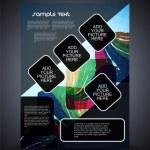 Presentation of creative flyer or cover design. — Stock Vector