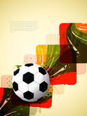 Creative football background with colorful modern design. — Stock Vector