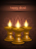 Religious background design for diwali festival with beautiful lamps. — Stockvektor