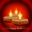 Religious background design for diwali festival with beautiful lamps. — 图库矢量图片