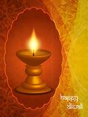Disegno di sfondo religioso per il festival di diwali con belle lampade. — Vettoriale Stock