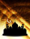 религиозные ид фон с мечетью. — Cтоковый вектор