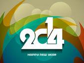 Elegant happy new year 2014 design. — Stock Vector