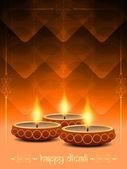 排灯节节日美丽灯与宗教背景设计. — 图库矢量图片