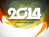 Elegant colorful background design for happy new year 2014. — Stock Vector