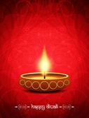 Antecedentes religiosos elegante para diwali con hermosas lámparas. — Vector de stock