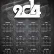 Stock Vector: Beautiful calender design for new year 2014.