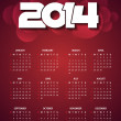 Beautiful calender design for new year 2014. — Stock Vector