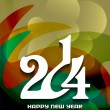 Elegant happy new year 2014 design — Stockvektor