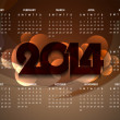 Beautiful calender design for new year 2014. — Stock Vector #36063415
