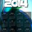Beautiful calender design for new year 2014. — Stock Vector #36063477