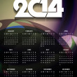 Beautiful calender design for new year 2014. — Stock Vector #36785481