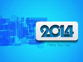 Zarif mutlu yeni yıl 2014 tasarım — Stok Vektör