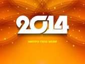 Glowing background design for new year 2014. — Stock Vector