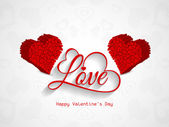 Elegant Love background for valentine's day. — Stock Vector