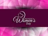 Beautiful women's day background. — Stock Vector