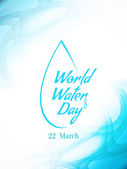 Beautiful card design of World water Day. — Stockvector