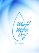 Beautiful card design of World water Day. — Stock Vector