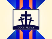 Religious colorful background design for Good Friday. — Vecteur