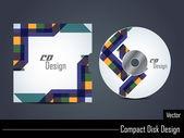 Apresentação do cd colorido elegante design da capa. — Vetor de Stock