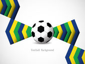 Brazil color theme football background. — Stock Vector