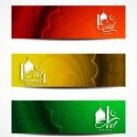 Set of beautiful header designs for Eid. — Stock Vector #48947881