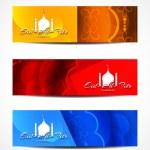 Set of beautiful header designs for Eid. — Stock Vector #48951937