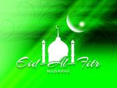 Creative Eid AiFitr Mubarak background design. — Stockvector