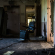 OldDental chair in the Abandoned Hospital — Stock Photo