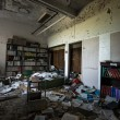 Stock Photo: Old Abandoned Library